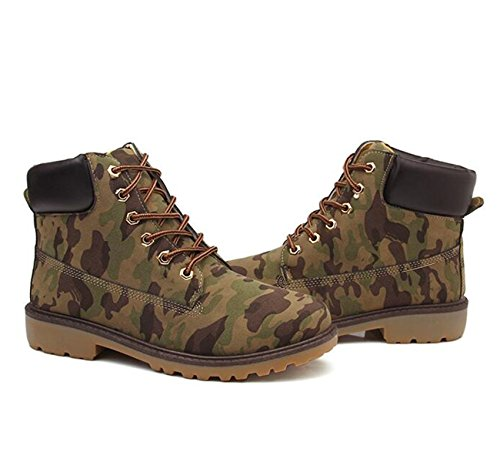 camouflage Combat Boots Booties Lace Up Outdoor Snow Men's XIUWU Hiking x7Ffzz