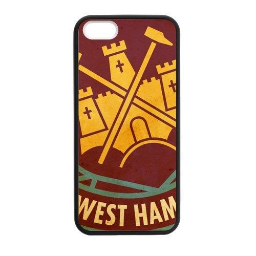 Persoanlized design West Ham United iPhone 5,5s custodia cover personalizzata per iPhone , 5s TPU