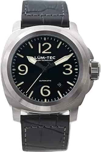 Lum-Tec M81 Automatic Black Watch | Leather Watch Band