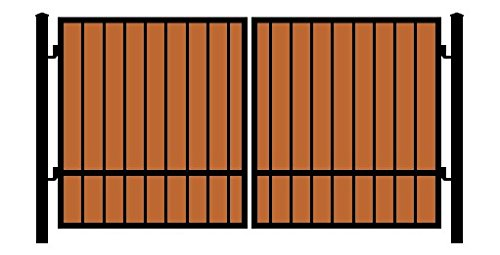 StandardGates Metal Black Square Redwood Security Gates A...