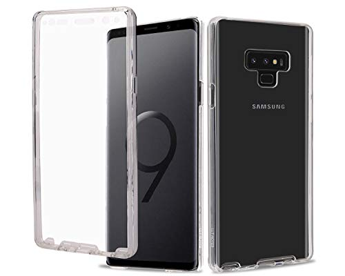 Casetego Compatible Note 9 Case,360 Full Body Two Piece Slim Crystal Transparent Case with Built-in Screen Protector for Samsung Galaxy Note 9,Clear