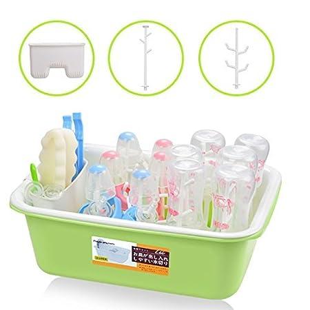 estante de secado de bebé con bandeja de agua extraíble Id Formizon bebé botella tendedero