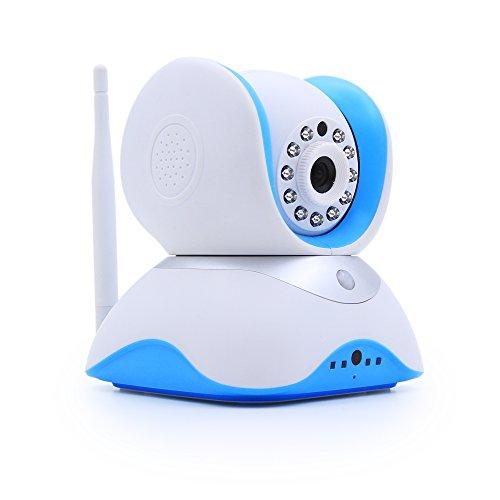 HiKam Q7 Wireless IP Kamera HD 720p für Smartphone, mit deutscher App+Anleitung+Support (1.3MP, Tag/Nachtsicht, Gegensprechfunktion, PIR, Bewegungsmelder, Pan/Tilt, Schwenkbar, dig. Zoom, Ethernet, kostenlose 8GB microSD Speicher, mobil Android/iOS/iPhone