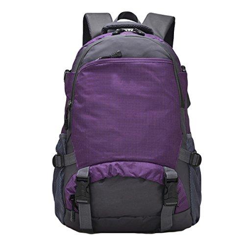 25L Al Aire Libre Del Bolso De Hombro Del Alpinismo Los Hombres De Bolso De Viaje Y Mujeres De Montar Morral,RoseRed Purple