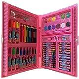 Estojo De Pintura Com 68 Peças Para Meninas Kit Escolar Rosa 68 Peças Estojo Maleta Pintura Desenhar