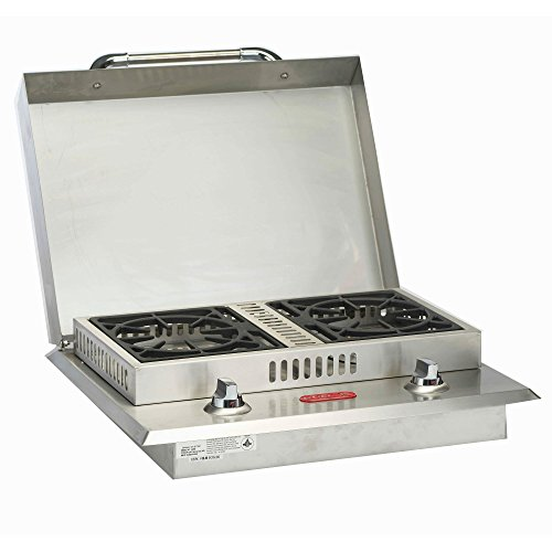 Bull Outdoor Products 60088 Stainless Steel Double Side Burner, Liquid Propane