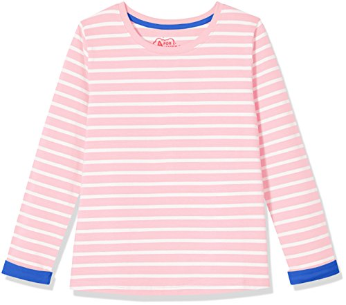 A for Awesome Girls Long Sleeve Jersey Tee Medium Orchid Pink (Pretty Pink Orchid)