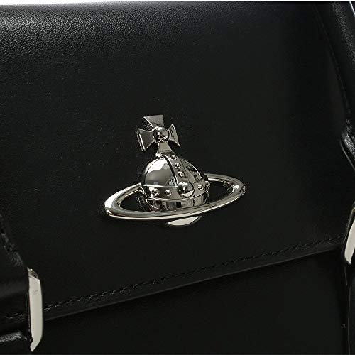 de besace Vivienne Schwarz sac noir cuir en Rabat Westwood Schwarz Matilda moyen schwarz RIIpgwq