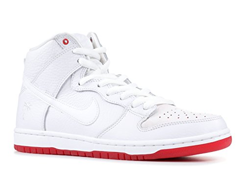 SB Zoom Dunk High Pro QS (White/White-University Red 13)