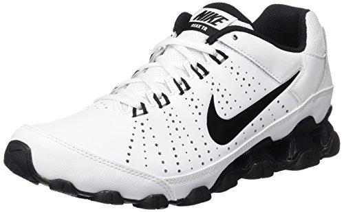 Nike Reax 9 Tr, Zapatillas de Deporte Para Hombre Blanco / Negro (White/Black)