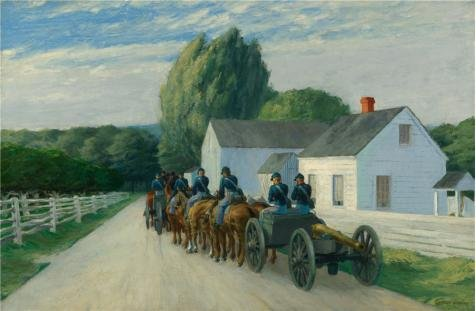 Oil Painting 'Edward Hopper,Light Battery At Gettysburg,1940' Printing On High