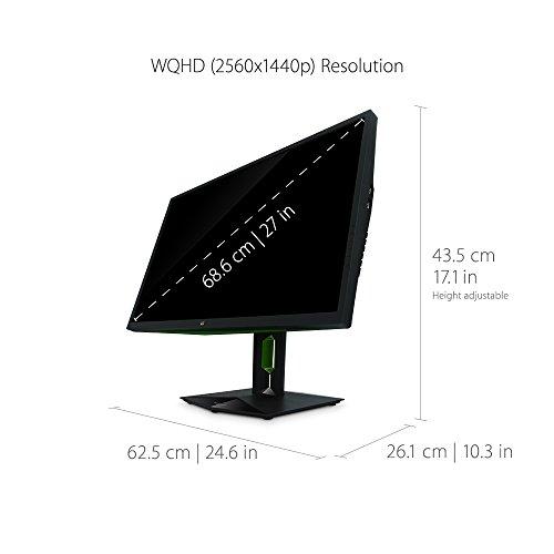 ViewSonic XG2760 27 Inch 1440P 165Hz 1ms Gsync Gaming Monitor with Eye Care Advanced Ergonomics HDMI and DP for Esports للبيع