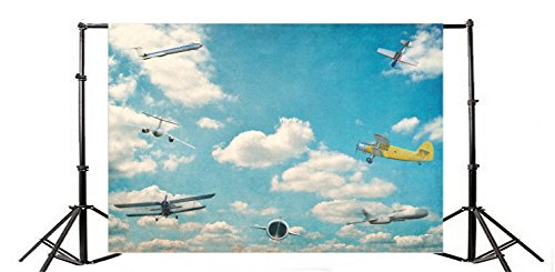 Yeele 6x4ft Aircraft Fly Photo Backdrops Vinyl Aircraft Model Flying Dream Baby Little Boy Party Photography Background Airplane Adult Pilot Portrait Photo Booth Video Shoot Wallpaper Studio Props