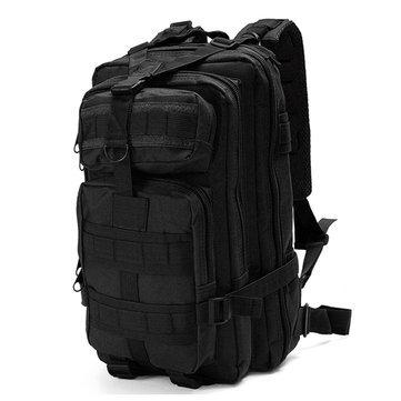 (IPRee 30L Outdoor Tactical Backpack 600D Nylon Waterproof Camouflage Trekking Rucksack - Outdoor Bag Hiking & Climbing Bag - (Black) - 1 x Outdoor Backpack)
