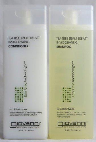 Giovanni Tea Tree Triple Treat , Duo Set Shampoo & Conditioner, 8.5 Oz Each Bottle