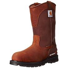 Carhartt Men's CMP1100 11 Wellington Work Boot,Bison Brown Oil Tan,9 W US