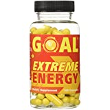 GOAL Extreme Energy Pills 100 Capsules - Best Natural Energy Vitamins - Breakthrough Weight loss Pills - Energy Booster Supplement Capsules for Women and Men - Fat Burners Diet Pills That Work Fast