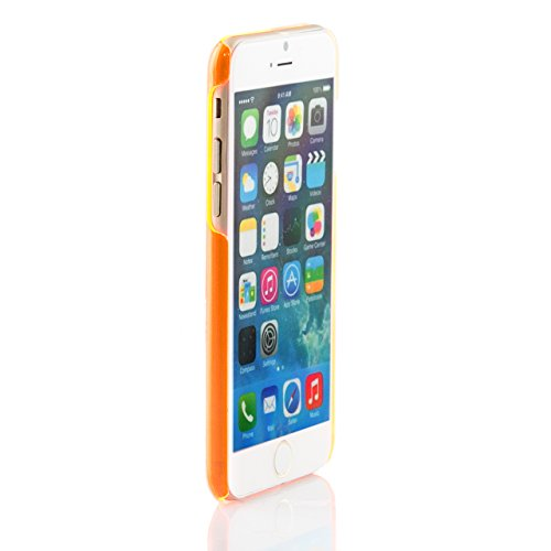"iProtect housse de protection Clear Crystal Hard Case transparent pour Apple iPhone 6 (4,7"") en orange"