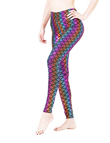 Maxi Funny Cool Costume Birthday Marry Christmas Halloween Party Themed Mermaid Leggings for Women Clothes Pants]()