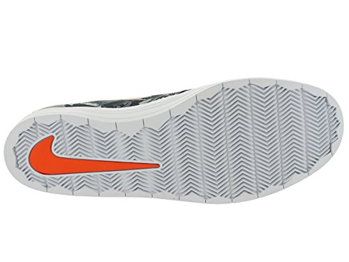 Zapatillas De Skate Nike Hombres Lunar Oneshot Sb Wc Negro / Naranja De Seguridad
