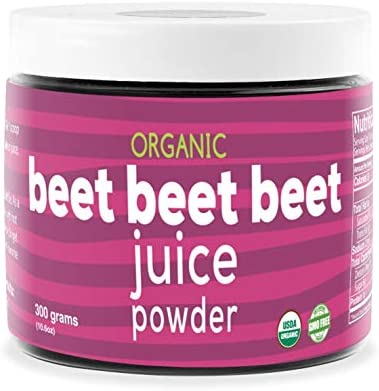 Beet Beet Beet – Organic Beet Juice Powder Supports Healthy Blood Pressure, Cholesterol – Pure USA Grown – No Additives or Flavors-Superfood Supplement – Nitric Oxide Boosting Nutrients