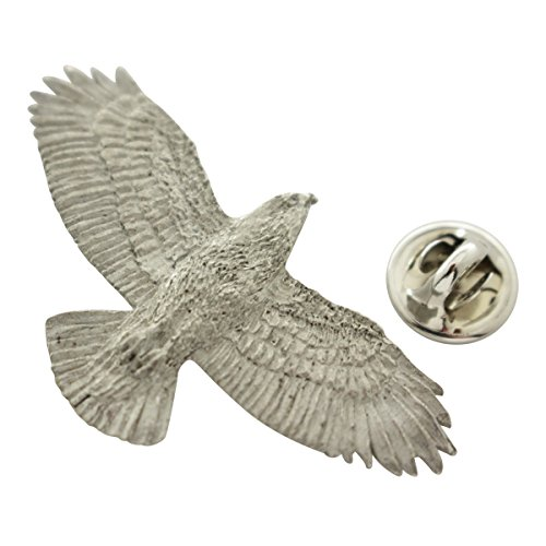 Hawk Pin ~ Antiqued Pewter ~ Lapel Pin ~ Sarah's Treats & Treasures (Bird Hawk Harris)