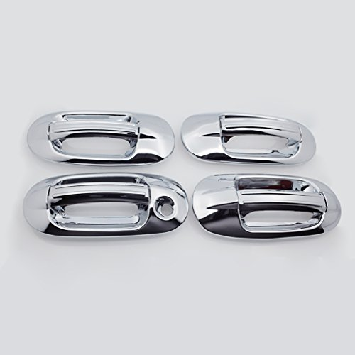 E-Autogrilles Triple Chrome Plated ABS 4 Door Handle - Expedition Chrome