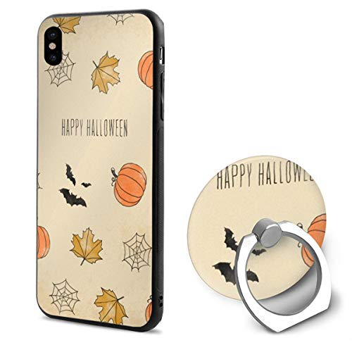 Happy Halloween iPhone X Mobile Phone Shell Shell Ring Bracket Cover Cases ()