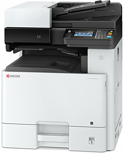 Kyocera 1102P32US0 Model ECOSYS M8130cidn Color A3 MFP Multi-Function Laser Printer (Print/Scan/Copy/Fax), 30 ppm Color, Resolution 600 x 600 dpi Up To Fine 1200 x 1200 dpi, Duplex, HyPAS - Finisher Fax