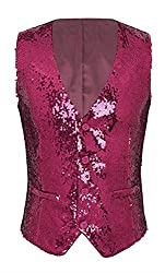 Sequin Costume Vest for Men