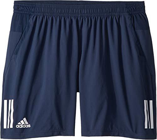 da08b2325a02 adidas Men's Tennis Club 3 Stripes Short, Collegiate Navy, X-Large ...