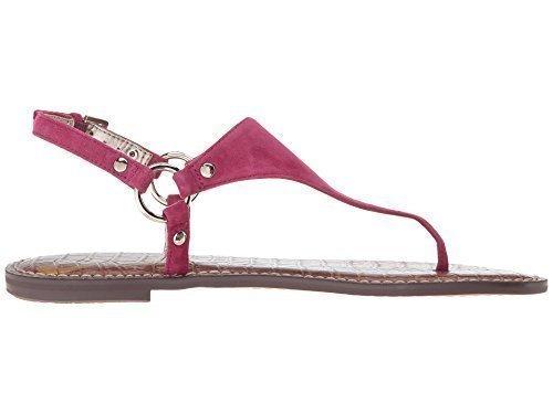 cb735621762d Galleon - Sam Edelman Women s Greta Pink Garnet Kid Suede Leather Sandal