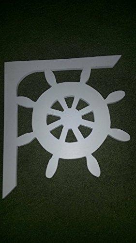 Ships Wheel Mailbox Bracket