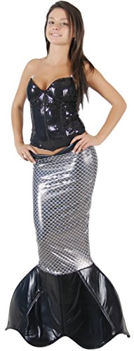 [Magical Mermaid BLACK Sparkle Tail DELUXE Costume (L/XL)] (Ariel Tail Costumes)