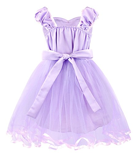 Cotrio Girls Princess Rapunzel Dress up Costume Halloween Cosplay Fancy Party Dresses Size 4T (110, Rapunzel Tutu Dress) by Cotrio (Image #2)