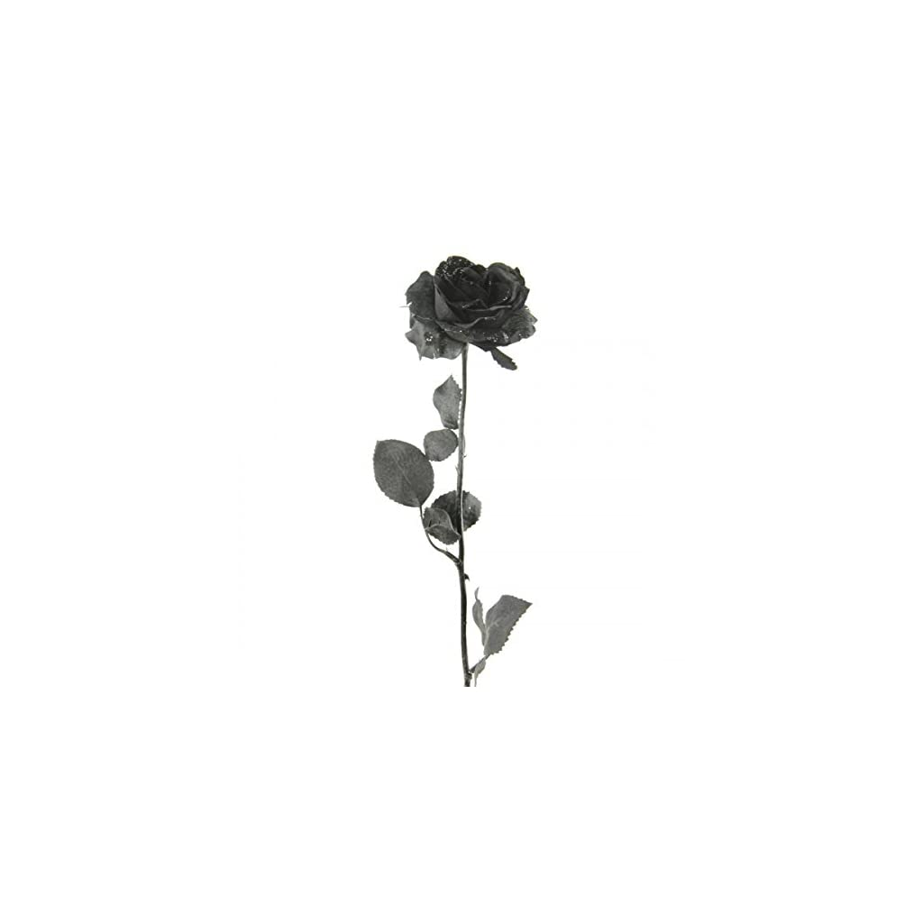 Shinoda-Design-Center-0062408484-2-Piece-21-Black-Satin-Rose-Stem-with-Glitter