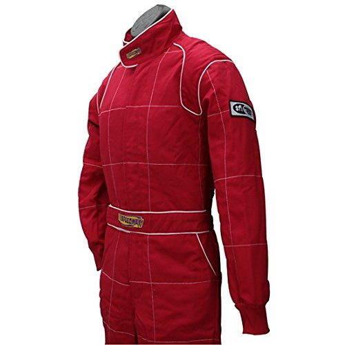 Red 2 Layer Racing Suit-One Piece-SFI-5 Rated, XL by Speedway Motors (Image #5)