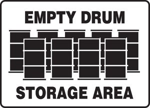 EMPTY DRUM STORAGE AREA (W/GRAPHIC)