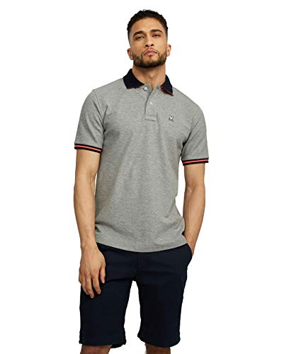 Psycho Bunny Men's Derwent Polo Heather Grey Small ()