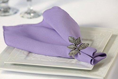 Zhen Linen Pack of 12 Polyester Napkins (Lavender) (And Lavender Linen)