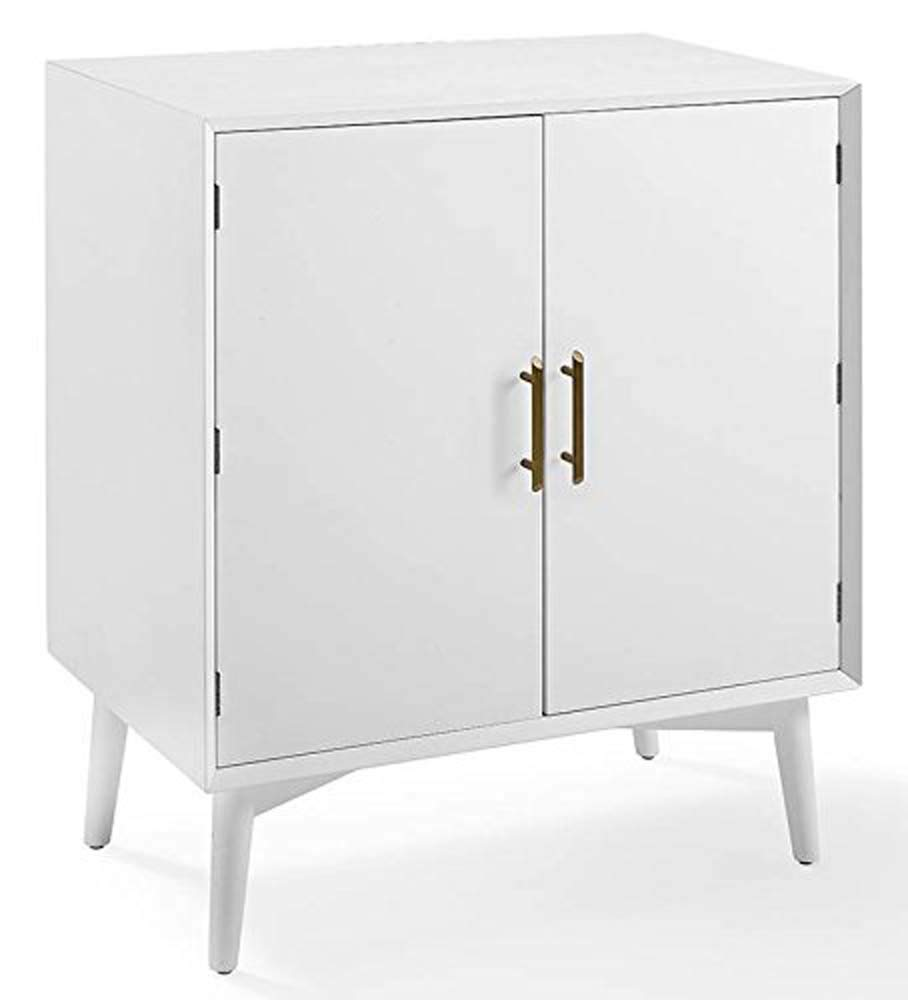 Amazon com crosley furniture bar cabinet in white finish kitchen dining