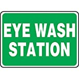 Eye Wash Station Sign14X10in Plastic