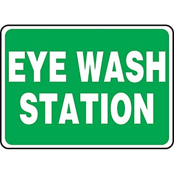 Eye Wash Station Sign14X10in Plastic by New Pig Corporation (Image #1)