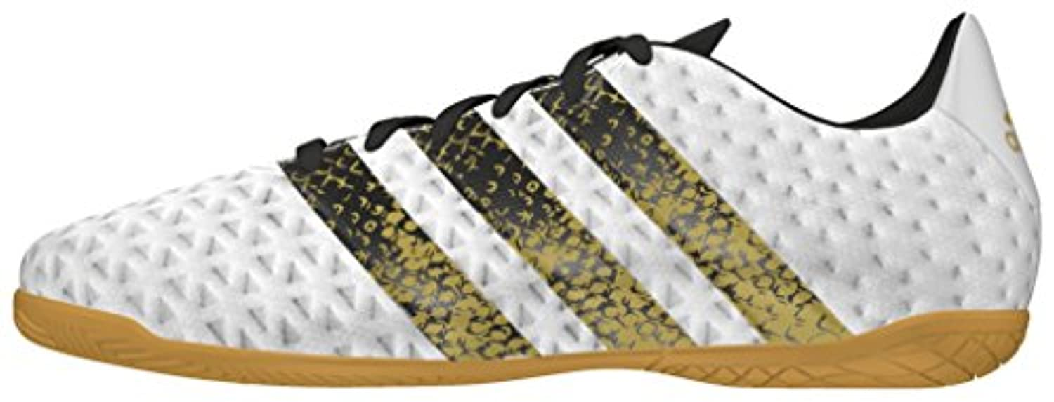 Adidas Boys Ace 16.4 in Football Boots, Black (Core Black/Ftwr White/Gold Met), 1 Child UK 33 EU