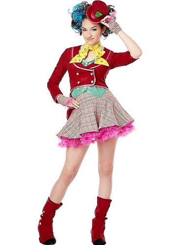 [California Costumes Mad As a Hatter Tween Costume, Large] (Female Mad Hatter)