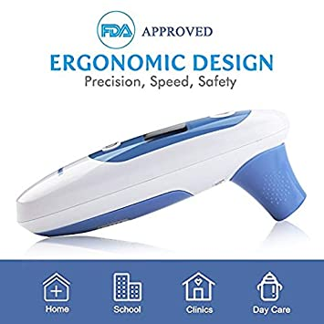 Best Medical Digital Ear Thermometer (Termometro) with Temporal Forehead Function - for Baby,