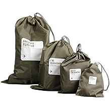 [Patrocinado] muryobao impermeable cordón bolsas PE plástico plegable Sport Home Viajes Almacenamiento el uso