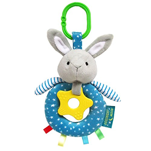 Goodnight Moon Bunny Teether Activity Toy, 9