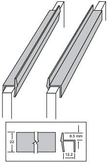 Custom Accents PVC Hanging File Rail for 1//2 Drawer Sides 2 Feet Long Black
