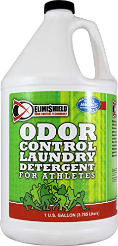 - Liquid Laundry Detergent - Elimishield Sport - Odor Control Formula (128 oz) - 100% Scent Free, Phosphate Free, HE Compatible, No UV or Optical Brighteners